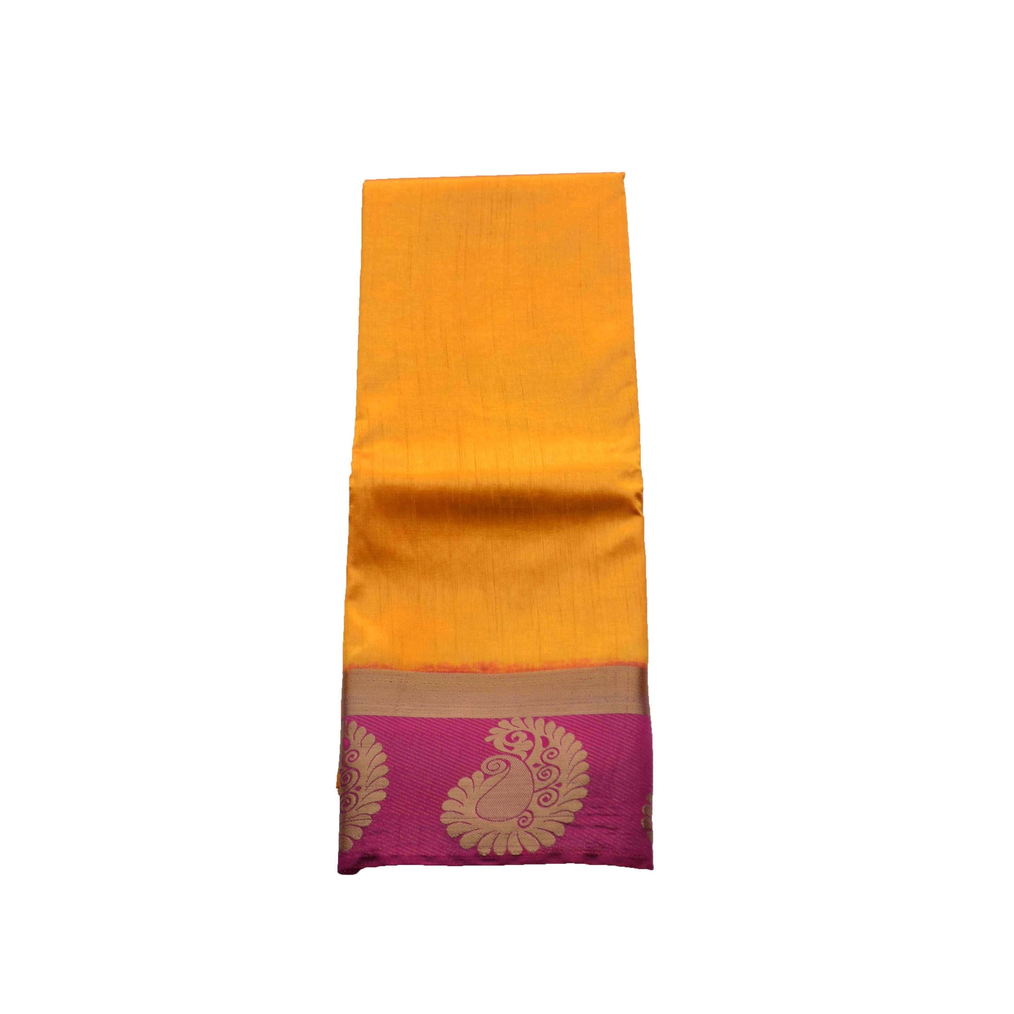 arars Women's kanchipuram kanjivaram pattu style art silk colour saree with blouse (347 GOLD)