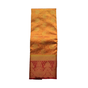 arars Women's kanchipuram kanjivaram pattu style art silk colour saree with blouse (349,strawberry)
