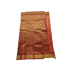 arars Women's kanchipuram kanjivaram pattu style art silk colour saree with blouse (351 MUSTARD)
