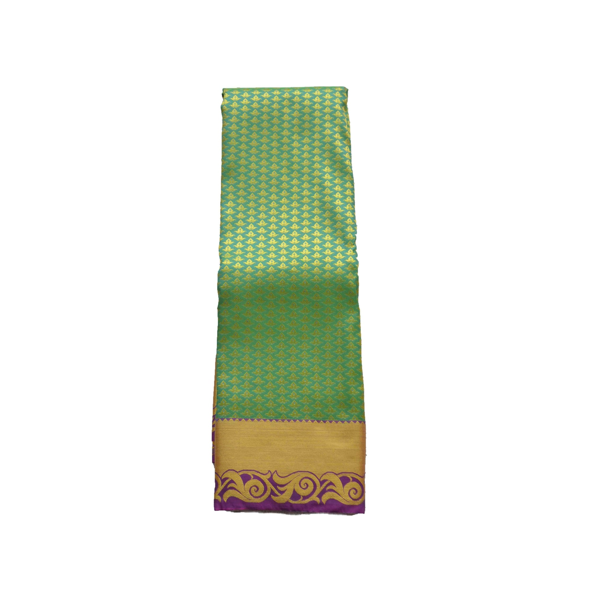 arars Women's kanchipuram kanjivaram pattu style art silk colour saree with blouse (353 C GREEN)