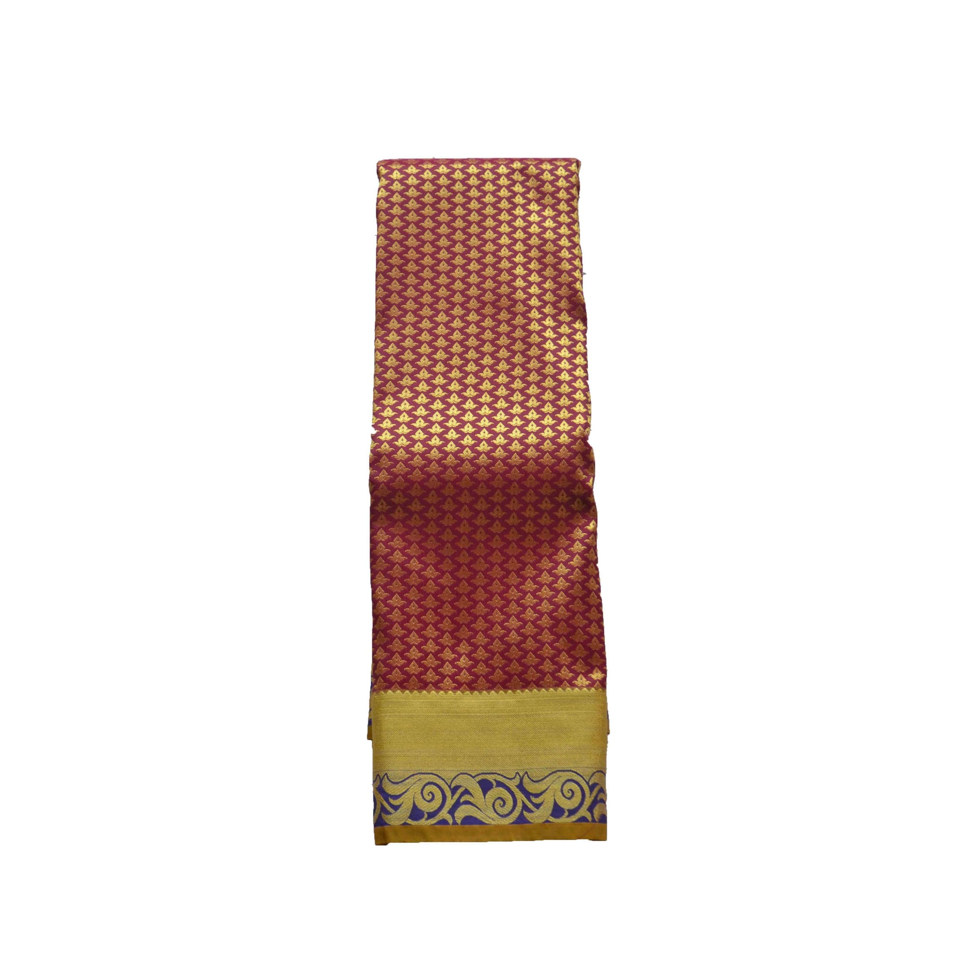 arars Women's kanchipuram kanjivaram pattu style art silk colour saree with blouse (353 MAROON)