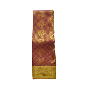 arars Women's kanchipuram kanjivaram pattu style art silk colour saree with blouse (354 MAROON)
