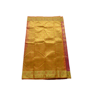 arars Women's kanchipuram kanjivaram pattu style art silk colour saree with blouse (354 PINK)
