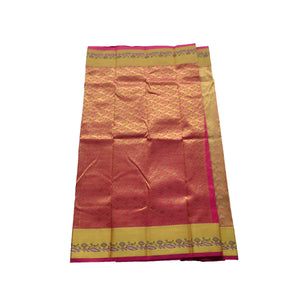 arars Women's kanchipuram kanjivaram pattu style art silk colour saree with blouse (355 BEIGE)