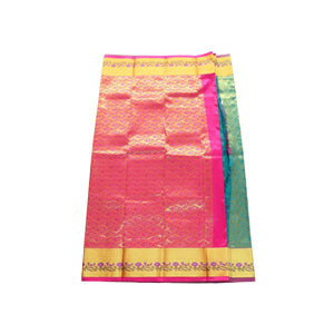 arars Women's kanchipuram kanjivaram pattu style art silk saree with blouse (355,rama)
