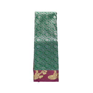 arars Women's kanchipuram kanjivaram pattu style art silk saree with blouse (356,b green)