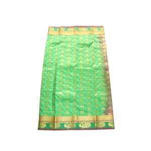 arars Women's kanchipuram kanjivaram pattu style art silk saree with blouse (363,c green)