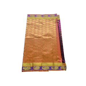 Arars Women's Kanchipuram Kanjivaram Pattu Style Art  Silk Saree With Blouse (363 RBB DARK RANI )