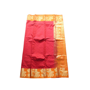 arars Women's kanchipuram kanjivaram pattu style art silk saree with blouse (365,maroon)