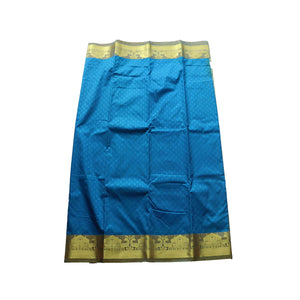arars Women's kanchipuram kanjivaram pattu style art silk saree with blouse (366,blue)
