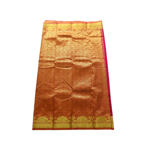 arars Women's kanchipuram kanjivaram pattu style art silk saree with blouse (366,rani)