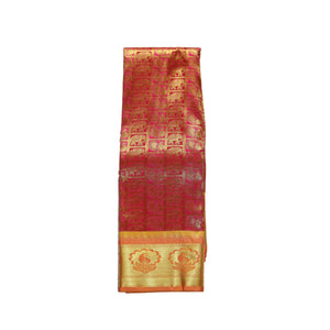arars Women's kanchipuram kanjivaram pattu style art silk saree with blouse (368,maroon)