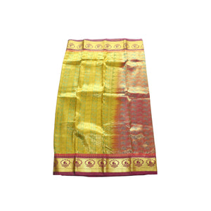 arars Women's kanchipuram kanjivaram pattu style art silk saree with blouse (368,pista)
