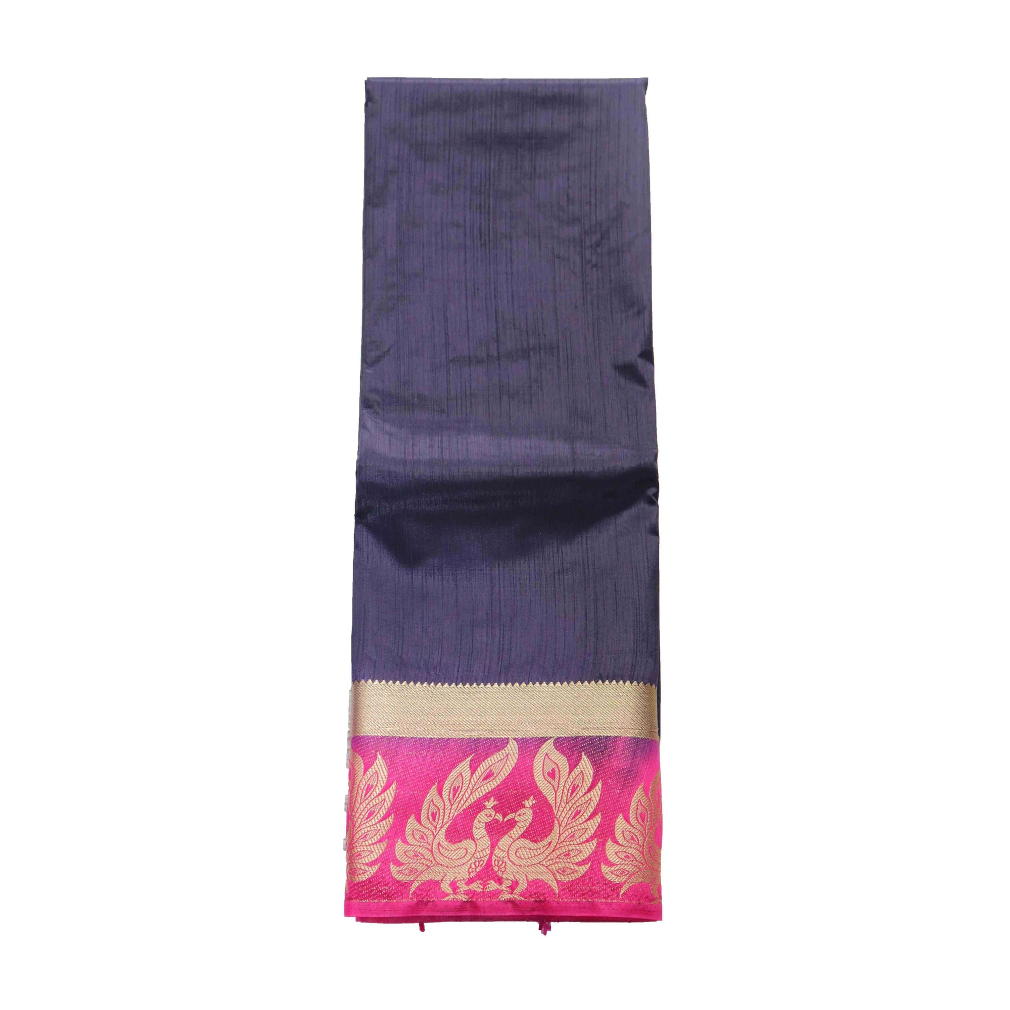 arars Women's kanchipuram kanjivaram pattu style art silk saree with blouse (375,navy blue)