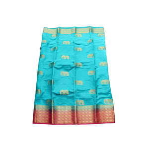 arars Women's kanchipuram kanjivaram pattu style art silk saree with blouse (376,safair)