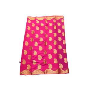 arars Women's kanchipuram kanjivaram pattu style mysore chiffon silk saree with blouse (387,rani)