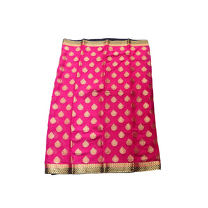 arars Women's kanchipuram kanjivaram pattu style mysore chiffon silk saree with blouse (391,rani)
