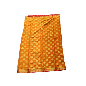 arars Women's kanchipuram kanjivaram pattu style mysore chiffon silk saree with blouse (394,mustard)