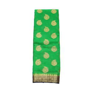 arars Women's kanchipuram kanjivaram pattu style mysore chiffon silk saree with blouse (395,green)