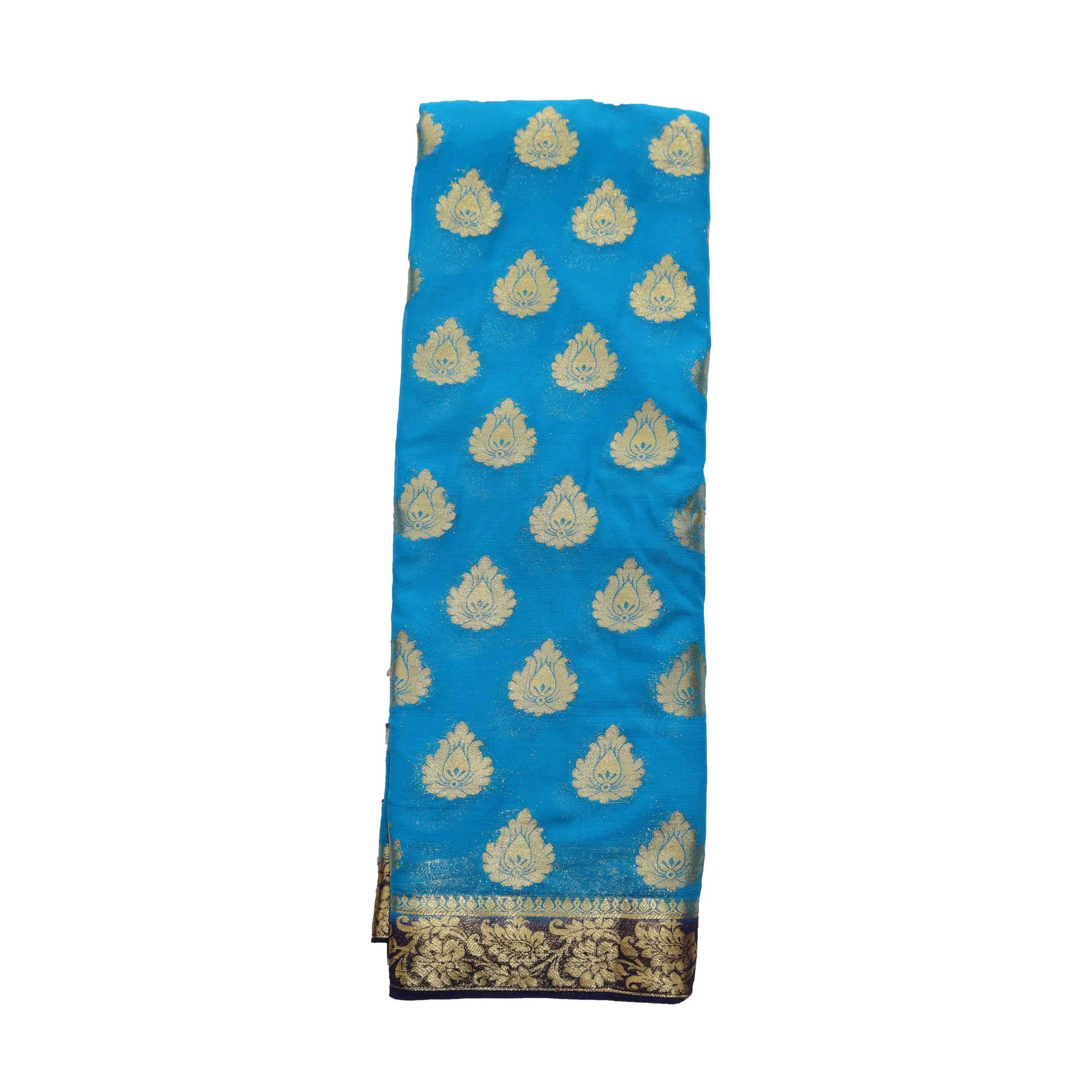 arars Women's kanchipuram kanjivaram pattu style mysore chiffon silk saree with blouse (401,blue)