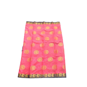 arars Women's kanchipuram kanjivaram pattu style tussar silk saree with blouse (409,strawberry)