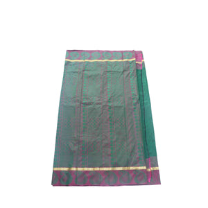 arars Women's kanchipuram kanjivaram pattu style art silk saree with blouse (411,green-1)