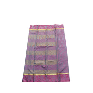 arars Women's kanchipuram kanjivaram pattu style art silk saree with blouse (411,purple-1)