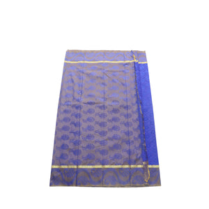 arars Women's kanchipuram kanjivaram pattu style art silk saree with blouse (411,royal blue-3)