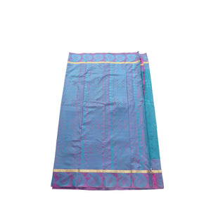 arars Women's kanchipuram kanjivaram pattu style art silk saree with blouse (411,safair-3)