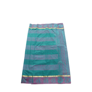 arars Women's kanchipuram kanjivaram pattu style art silk saree with blouse (411,safair-4)