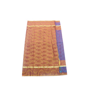 arars Women's kanchipuram kanjivaram pattu style art silk saree with blouse (411,violet-1)
