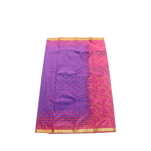 arars Women's kanchipuram kanjivaram pattu style art silk saree with blouse (412,magenta-1)