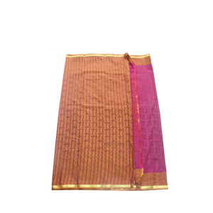 arars Women's kanchipuram kanjivaram pattu style art silk saree with blouse (412,purple-2)