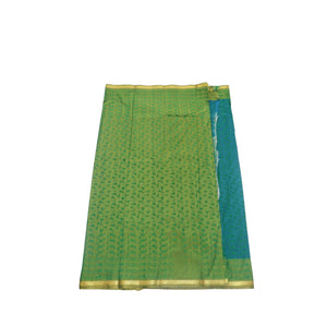 arars Women's kanchipuram kanjivaram pattu style art silk saree with blouse (412,rama-1)