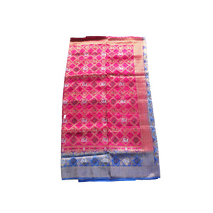 arars Women's kanchipuram kanjivaram pattu style art silk saree with blouse (416,rani)