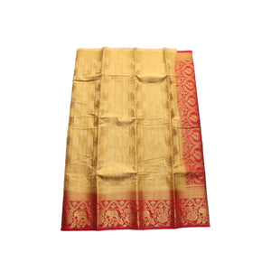 arars Women's kanchipuram kanjivaram pattu style art silk saree with blouse (440,chiku)