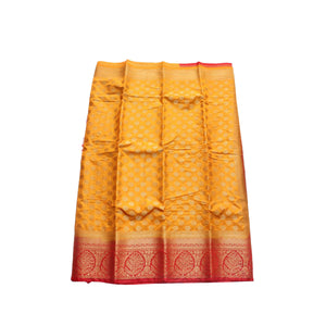 arars Women's kanchipuram kanjivaram pattu style art silk saree with blouse (441,mustard)