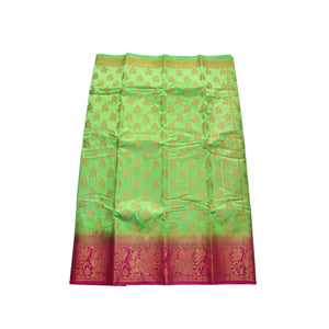 arars Women's kanchipuram kanjivaram pattu style art silk saree with blouse (442,parrot green)