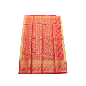 arars Women's kanchipuram kanjivaram pattu style art silk saree with blouse (443,chiku)