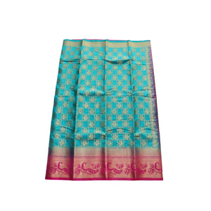 arars Women's kanchipuram kanjivaram pattu style art silk saree with blouse (443,safair)