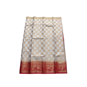 arars Women's kanchipuram kanjivaram pattu style art silk saree with blouse (443,white)