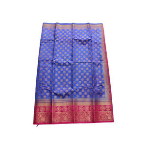 arars Women's kanchipuram kanjivaram pattu style art silk saree with blouse (445,royal blue)