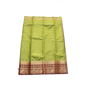 arars Women's kanchipuram kanjivaram pattu style art silk saree with blouse (447,olive)