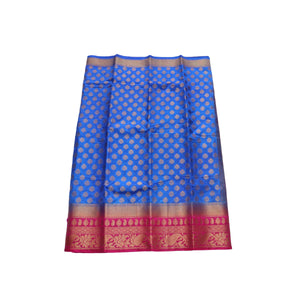 arars Women's kanchipuram kanjivaram pattu style art silk saree with blouse (447,royal blue)