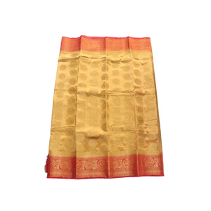 arars Women's kanchipuram kanjivaram pattu style art silk saree with blouse (448,chiku)