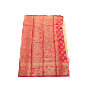 arars Women's kanchipuram kanjivaram pattu style art silk saree with blouse (450,chiku)