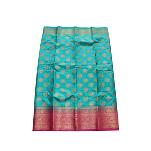 arars Women's kanchipuram kanjivaram pattu style art silk saree with blouse (451,safair)