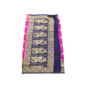 arars Women's kanchipuram kanjivaram pattu rapier butta paithani silk saree with blouse (474, purple)