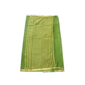 arars Women's kanchipuram kanjivaram pattu mysore crepe plain silk saree with blouse (480, olive)