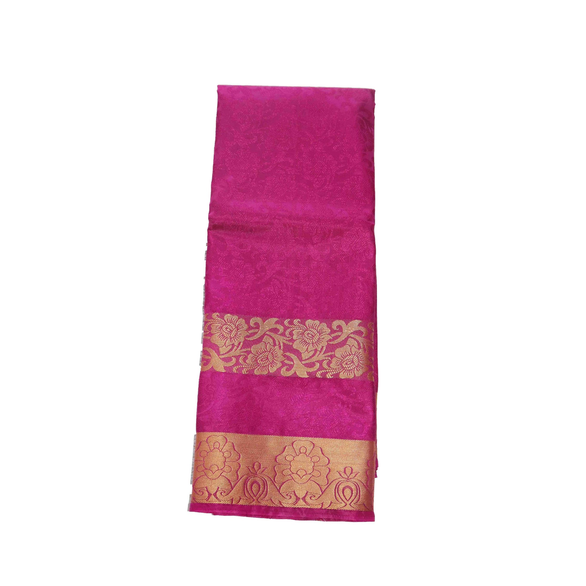 arars Women's kanchipuram kanjivaram pattu kanjivaram embosed plain silk saree with blouse (481, purple)